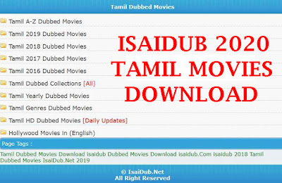 Isaidub 2020 Tamil Movies Download- Isaidub.in