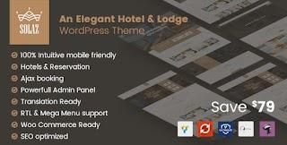 Solaz Hotel And Lodge Responsive WordPress Themes
