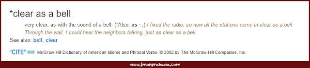 Arti Clear As A Bell Idiom Bahasa Inggris