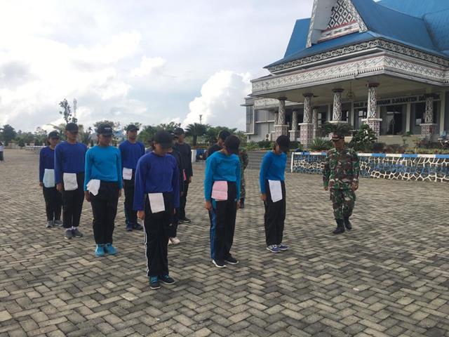 HUT RI Ke-76 Sudah Dekat, Personel Jajaran Kodim 0207/Simalungun Siapkan Anggota Paskibraka
