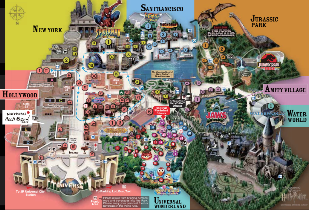10 tips and tricks when visiting universal studios japan food in studio map of universal studios japan gumiabroncs Images