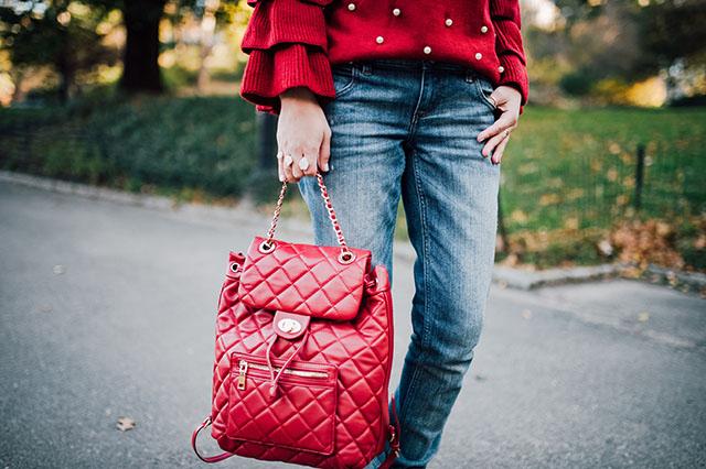 Pearl Beading Tiered Ruffle Sleeve Sweater-Hijabi Blogger-Urban Expressions Monroe Backpack-dolce b ymojomoxy Magnolia boot-haute hijab
