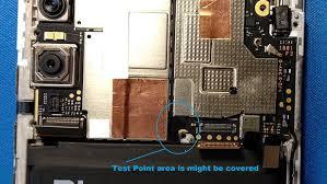 test point xiomi REDMI NOTE 5 PRO