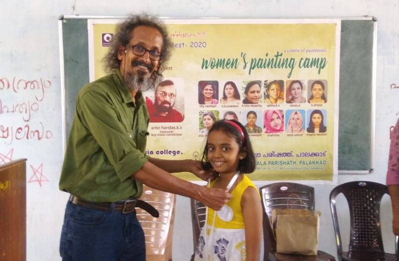 Aditi Krishna, III A wins First Prize at District Level Painting Competition