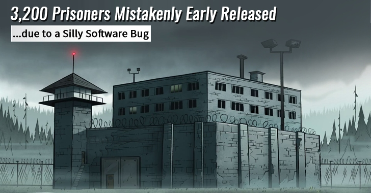 Jail Authorities Mistakenly Early Released 3,200 Prisoners due to a Silly Software Bug