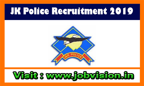 JK Police Recruitment 2019 1350 Female Constable Posts