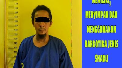 Diduga Pengedar shabu ditangkap saat berada di bengkel servis radiator.