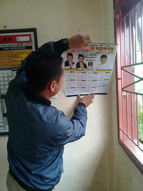 Kalender MARI Dalam Lokal SMP 3 Pariaman, Guru Tuduh Murid