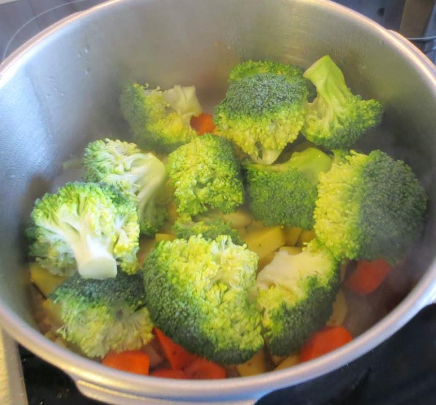 Rehogar resto de hortalizas
