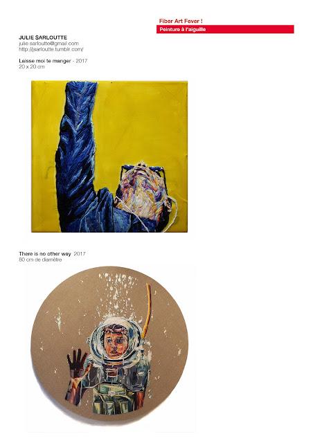 peinture à l'aiguille contemporaine, art textile contemporain