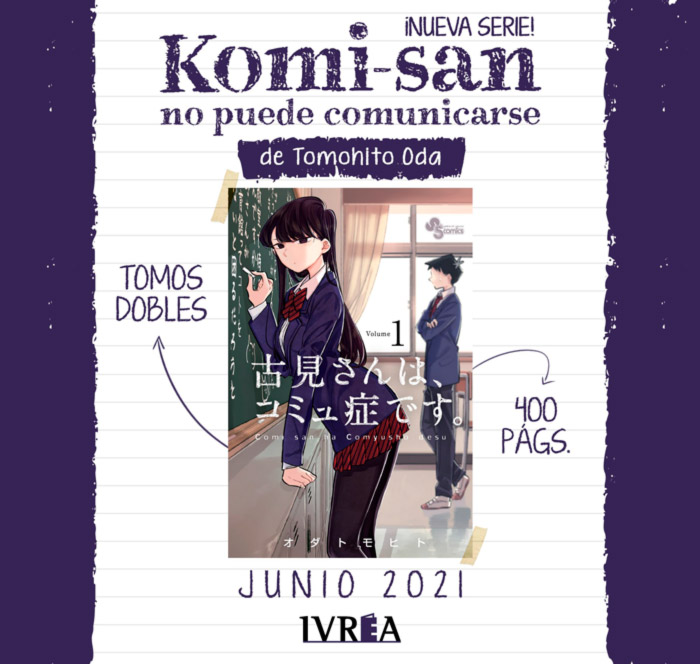 Komi-san no piede comunicarse (Komi-san wa Komyushou Desu) manga - Tomohito Oda - Ivrea
