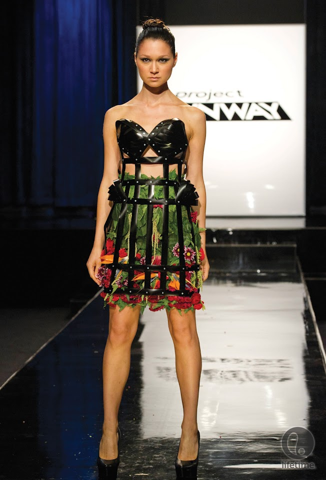 Why Are Runway Clothes So Weird: Gray Skies: Project Runway Unconventional Materials Challenge