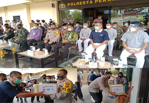 Bantuan 10 Ton Sembako Dari Yayasan Budha Tzu Chi Indonesia Disalurkan Polresta Pekanbaru