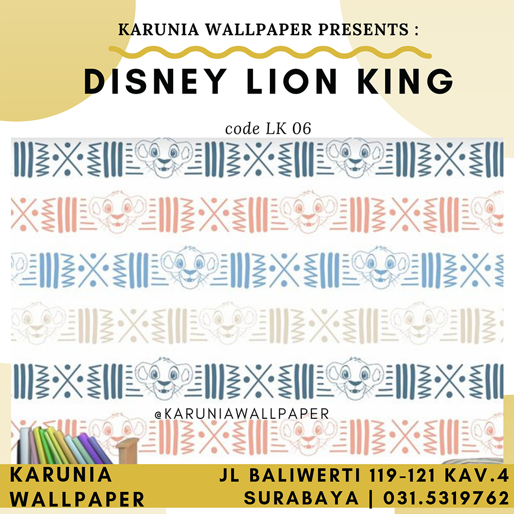 jual wallpaper dinding disney lion king