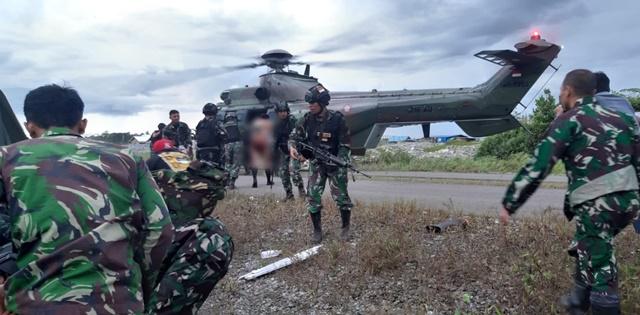 KKB Kembali Serang TNI, Tiga Prajurit Terluka Dan Diangkut Helikopter