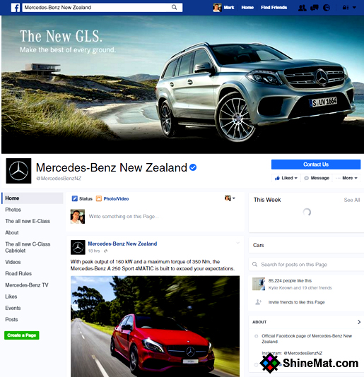 Facebook 2016 layout design