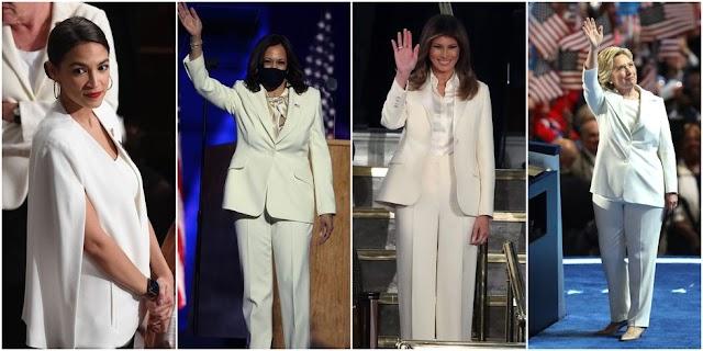 De Kamala Harris a Melania Trump: la simbología feminista del traje blanco en la política estadounidense