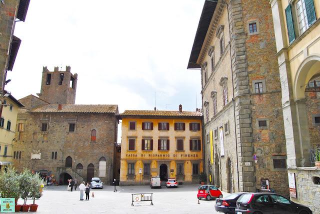 Plaza Signorelli de Cortona, Toscana