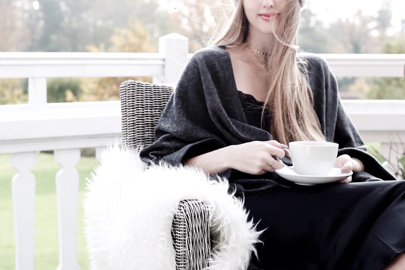 Bonsoir of London Luxury Loungewear Cashmere Cape