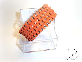 brazalete de antelina naranja