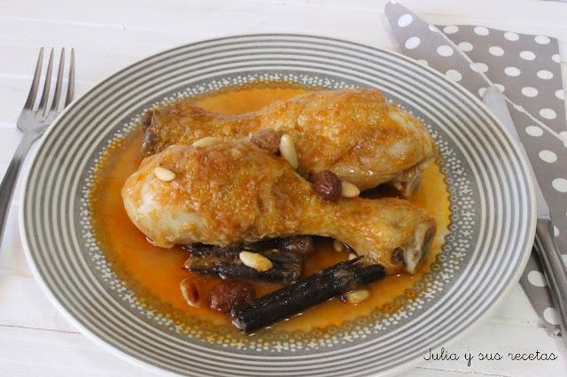Pollo a la catalana. Julia y sus recetas