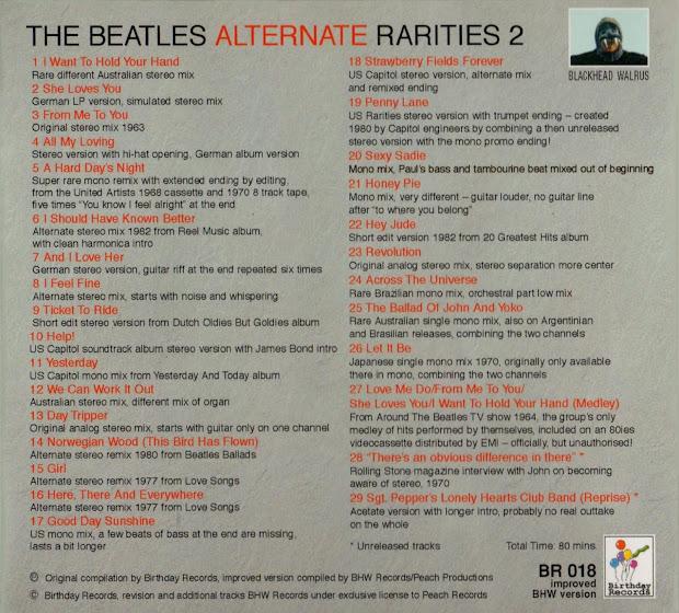Beatles Rarities - Year of Clean Water