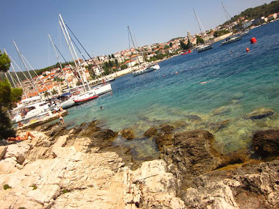 Hvar Town from one of its beaches