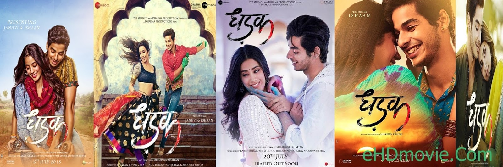 Dhadak 2018 Full Movie Hindi 720p - 480p ORG pDvDRip 700MB - 1GB ESubs Free Download