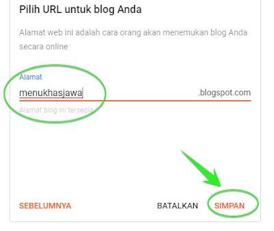cara membuat alamat blog baru