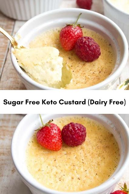 Sugar Free Keto Custard (Dairy Free)
