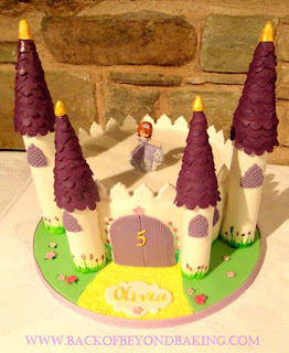 castle cake sofia the first