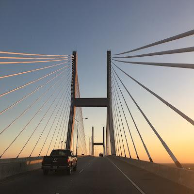 quiltcon 2017 savannah georgia bridge sunset