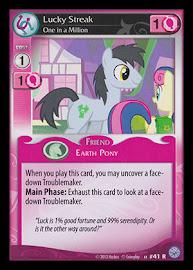 My Little Pony Lucky Streak, One in a Million Premiere CCG Card