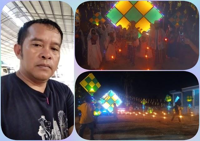 Seribu Ketupat , Pemuda Pemudi Lepin Bersaudara Memperindah dan Membuat Lampu Colok