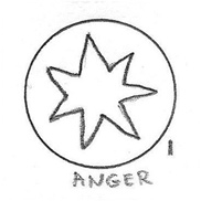 Anger Icon Drawing