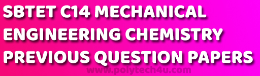 DIPLOMA CHEMISTRY PREVIOUS YEARS QUESTION PAPERS C-14 DME PDF