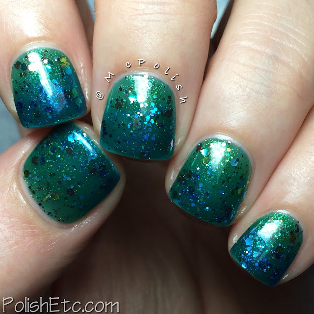 Ellagee - Brunch with Unicorns - McPolish - green and blue jelly sandwich