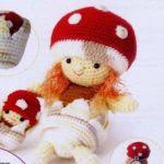 patron gratis muñeca seta amigurumi