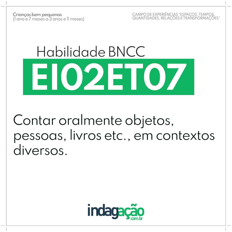 Habilidade EI02ET07 BNCC
