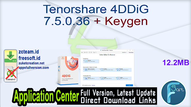 Tenorshare 4DDiG 7.5.0.36 + Keygen