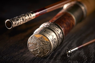 oyster bamboo fly rod hand engraved hardware by bill oyster