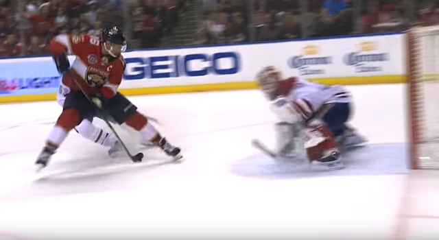 Aleksander Barkov shoots between the legs for amazing goal vs Montreal