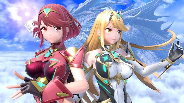 Pyra e Mythra em Super Smash Bros. Ultimate