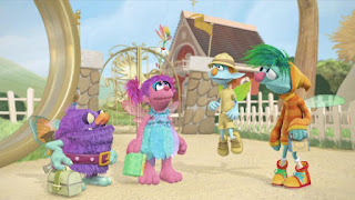 Sesame Street Episode 4307 Brandeis Is Looking For A Job, Abby's Flying Fairy School Puckish Pete's Petting Zoo Play Along
