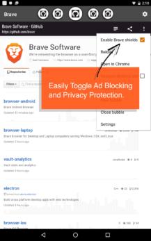 تطبيق تصفح الويب بشكل مجهول Brave Browser للأندرويد, تطبيق Brave Browser للأندرويد, تصفح الويب بشكل مجهول