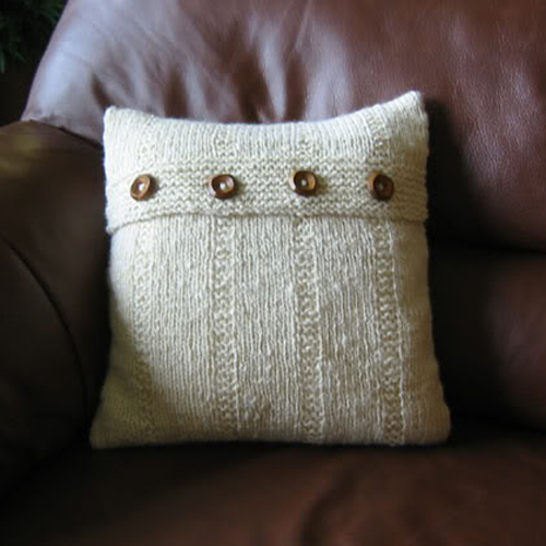 Handspun Cushion - Free Pattern