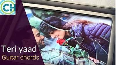 TERI YAAD Guitar chords ACCURATE | RAHAT FATAH ALI KHAN | SUNNY BROWN