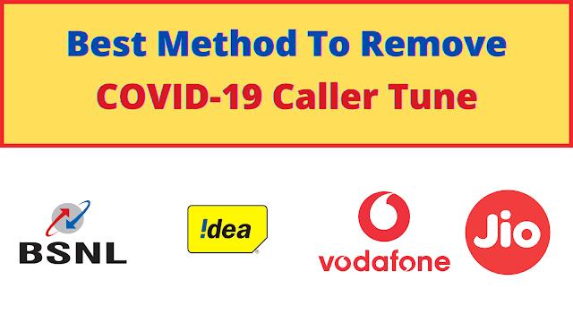 Remove/Deactivate Corona Caller Tune ? | Jio, BSNL, Vi & Airtel
