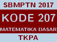 Soal dan Pembahasan SBMPTN 2017 Matematika Dasar