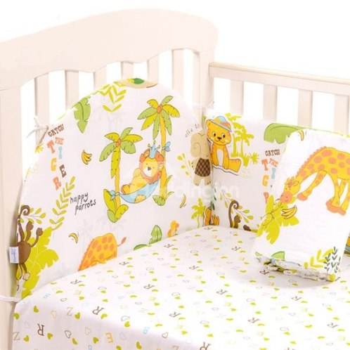 The Animal Kingdom 6-Piece Cotton Crib Bedding Set- Price : USD $48.09 (75% off)